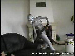 Robot babe is the perfect maid