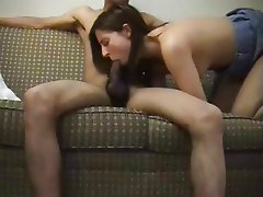 amateur interracial deepthroat blowjob and facial + cumplay