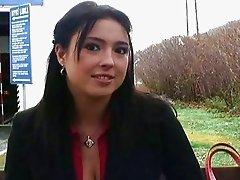 Shorthaired teen girl