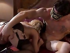 Disguised and dirty - Aiden Starr takes a nob job from a masked meatpole