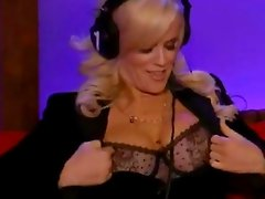 Jenny McCarthy shows boobs on stern