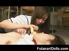 Biggest Futanari Cumshot Ever!
