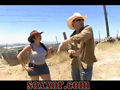 Farmer fucking country girl hard outdoor