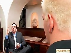 Blond guy sucking his boss for pay raise part5