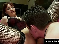 Sexy Dutch slut takes it deep