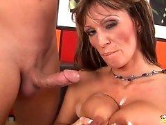 big breast shaved pornstar Milf Sandra Pandora gets rough big cock fucked