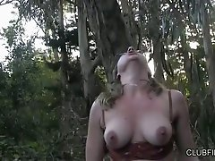 Dirty girlfriends Jolene Parton and Maggie Mayhem go wild in the forest