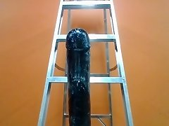 Playing with The Black Destroyer .. so big I needed a ladder