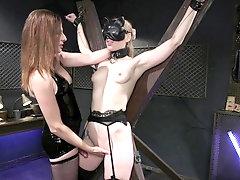 Lesbian femdom in scenes of rough fetish porn
