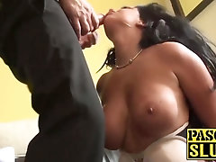 Subslut Brooklyn Blue demolished by penis and tonguing cum