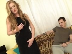Mature slut mom fucking lucky young son