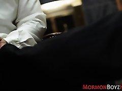Twink mormon barebacked