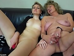 Close up pussy toying action with mature lesbian pornstar