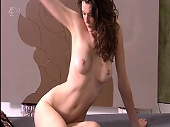Kirsten Varley naked completely showing hot body and big