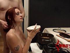 Violet Monroe enjoys rough MMF sex in amazing BDSM clip