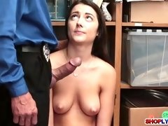 brunette lily adams punished for shoplifting