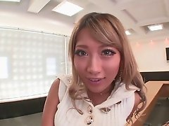 Japanese glamour girl with a nice tan fucked hardcore