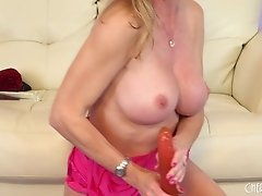 MILFs favorite possession is her big dildo that hits her g-spot