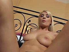 beautiful blonde rides a dick in pov