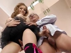 Luxurious blondie damsel is privately humping married dudes and making porno flicks to earn some currency