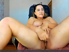 Thick bbw having fun with lovense dildo in her pussy