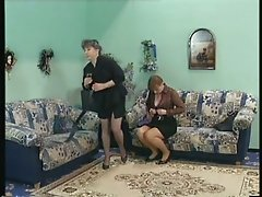 Classy mature women in sexy stockings fucked in every hole