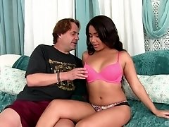 Long haired Latina Loni Legend take off her panties for a fuck