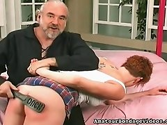 Slutty cock sucker wants her coach to satisfy her butt