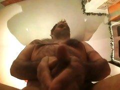 Rub from below filmed