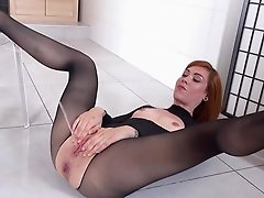 Pissy fetish masturbation solo with Foxie T