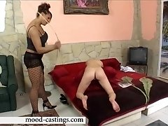 Nasty mistress finally gets to punishes girl's ass with a whip