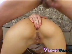 Naughty hot ass sluttie Lisa Marrie plays with huge dick in hot blowjob