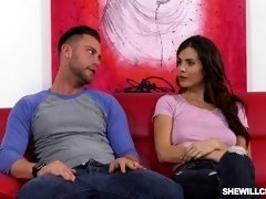 Buxom lady Keisha Grey cheats her lover with a hunk