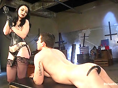 Veruca James enjoys blowing friend's hard and sticky cock before hard sex
