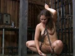 Submissive slut loves humiliation and begs for pain BDSM porn