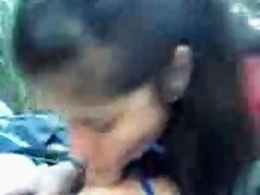 Indian girl Blow at Forest