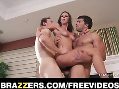 Big-Chested dark-haired mistress tells her stud to boob-screw her large bosoms