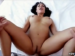 Instead of getting prepped for work, smoking super-fucking-hot damsel with dark hair was getting torn up