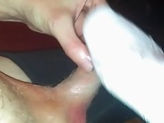 Cleaning up my friends cumshot