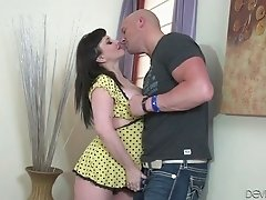 Tattooed titty milf gets her plump ass fucked and licked by bald headed dude