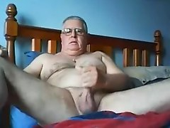 Beautiful daddy masturbating