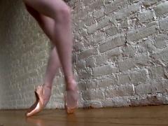 Dazzling Russian ballerina sensually reveals her sexy body