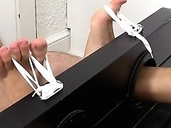 Aroused homo fellows in wicked foot fetish home porn scenes