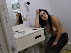 white gardenia - behind the scenes- how a homemade porno is made (hot girl beautiful goth girl huge breasts tits)