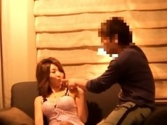 Buxom Japanese beauty gets nailed hard and sprayed with cum