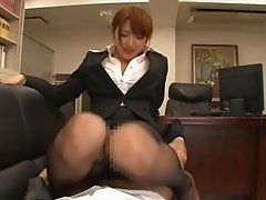 Foot fetish Japanese maiden banged hardcore in the office