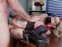Tattooed whore amazing hard sexh with a big dick