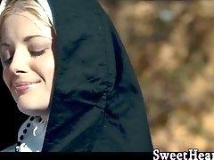 Lesbian nun babe fingers