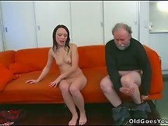 Horny old fart seduces his son's girlfriend and gets caught