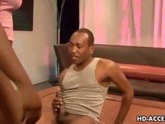Black MILF with nice natural tits screwing a black dude